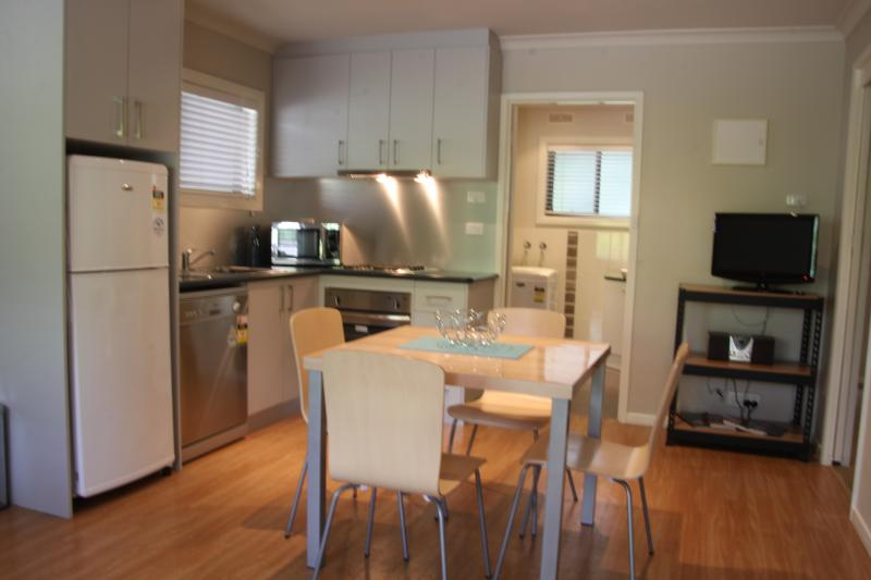 Fully self contained with fridge, oven, dishwasher and microwave