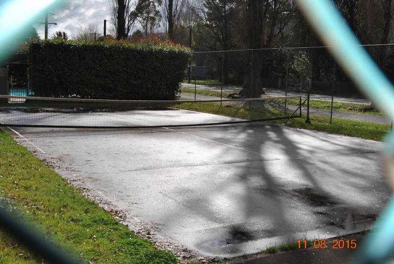 Tennis Court on site with free use of equipment