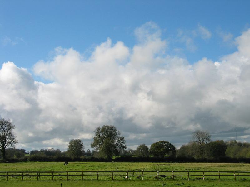 Rural views over the Mendip Hills, Area of Outstanding Natural Beauty