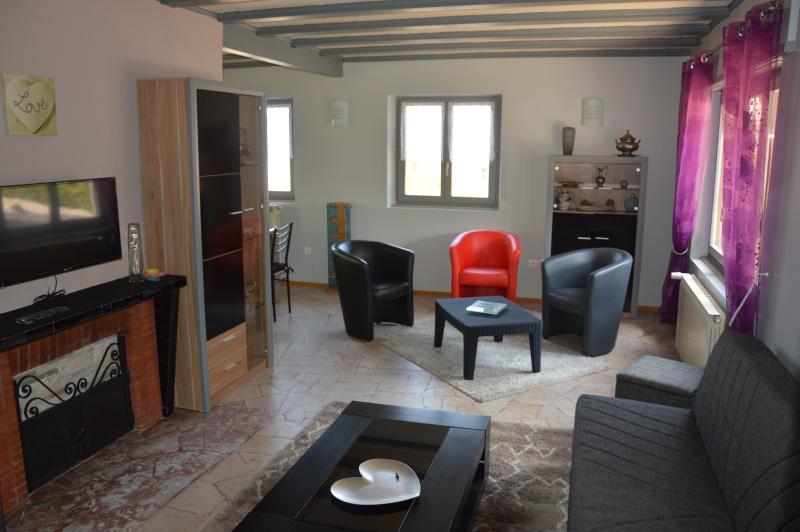 Maison individuelle de plain-pied. Grand espace à vivre, cuisine ouverte équipée, 3 chambres