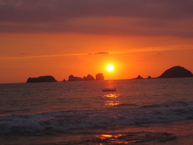 Ixtapa Palma Real Beach at sunset