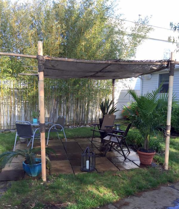 Private backyard seating