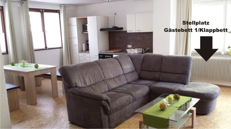 Wohnraum Mit Essecke Und Voll Ausgestatteter Küche