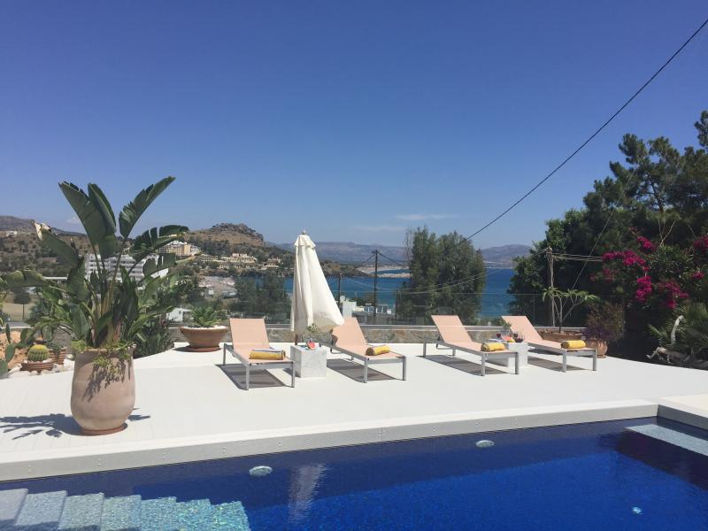 Stunning sea views with an ultra modern feel. Spend your day relaxing by your own private pool.