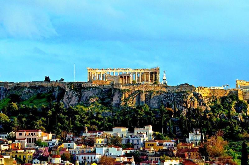 rooftop view to Acropolis. Original photo