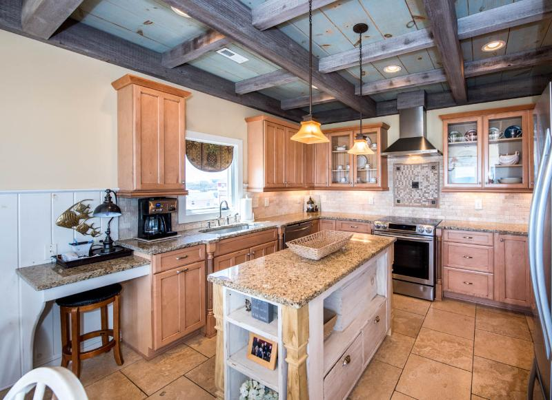 Upscale kitchen with everything you need for preparing that special meal.