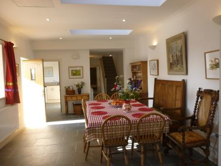 Dining area of the spacious, open plan kitchen and dining room