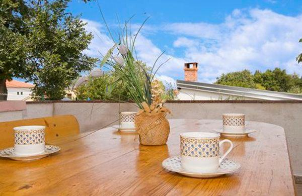 Coffee and breakfast in the morning, on your private terrace. Enjoy it!