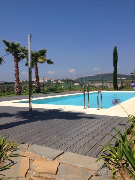 The outdoor pool overlooking Finca Cortesin
