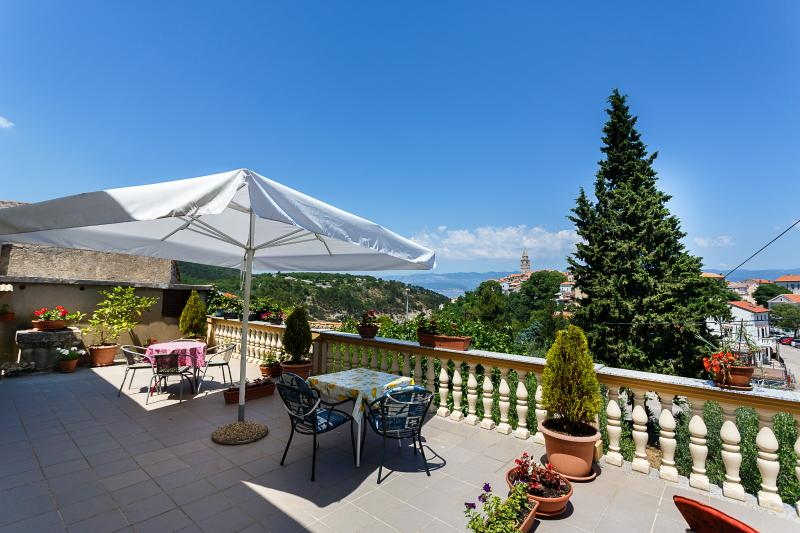 Shared terrace witha a view