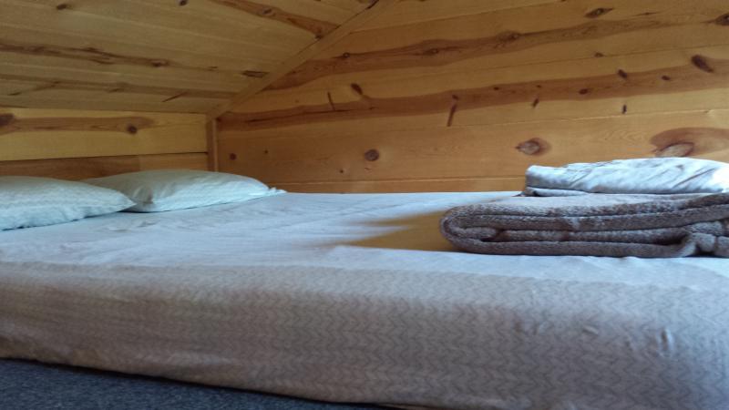 Full bed in loft. Great for kids!