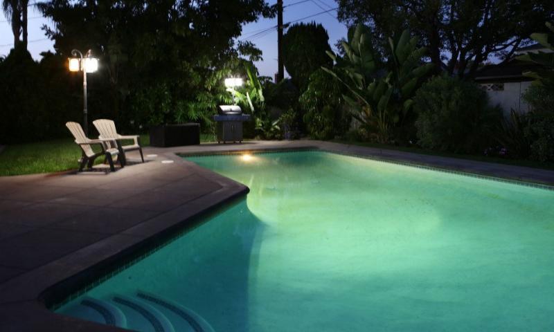Pool at Night View #2