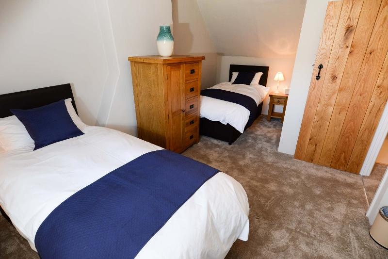 Twin Bedded Room - please note that entry to the room is through one of the Master Bedrooms