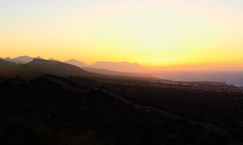 Sun set after a mountain walk