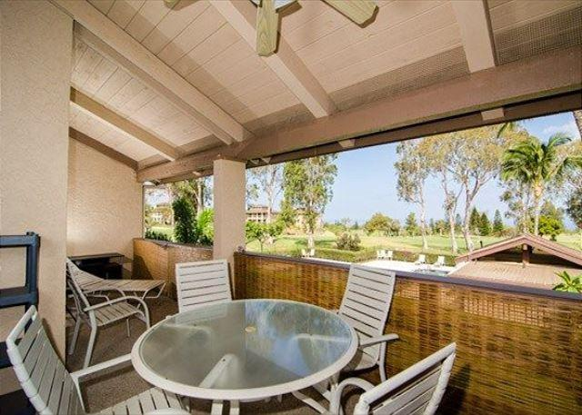 Covered Lanai with Golf Course and Ocean Views