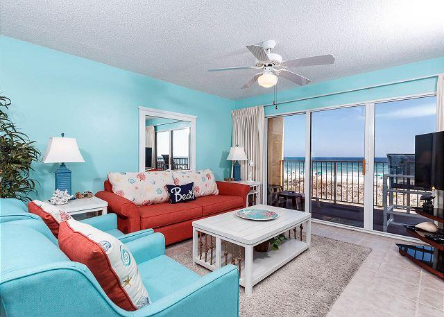 Gulf Dunes 208: Beautifully remodeled condo, fee beach chairs, tennis court, vacation rental in Mary Esther