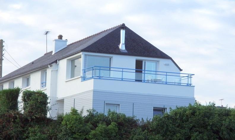 Du balcon  face à la mer.