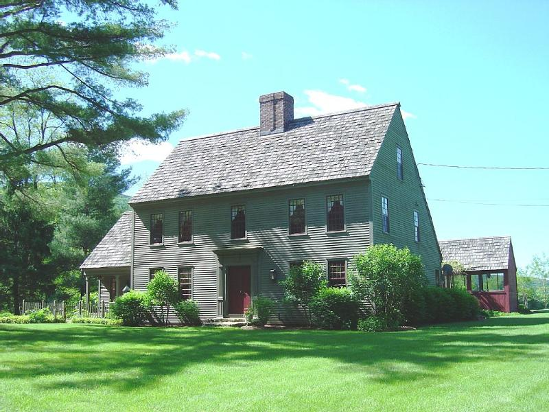 Front view of home in summer