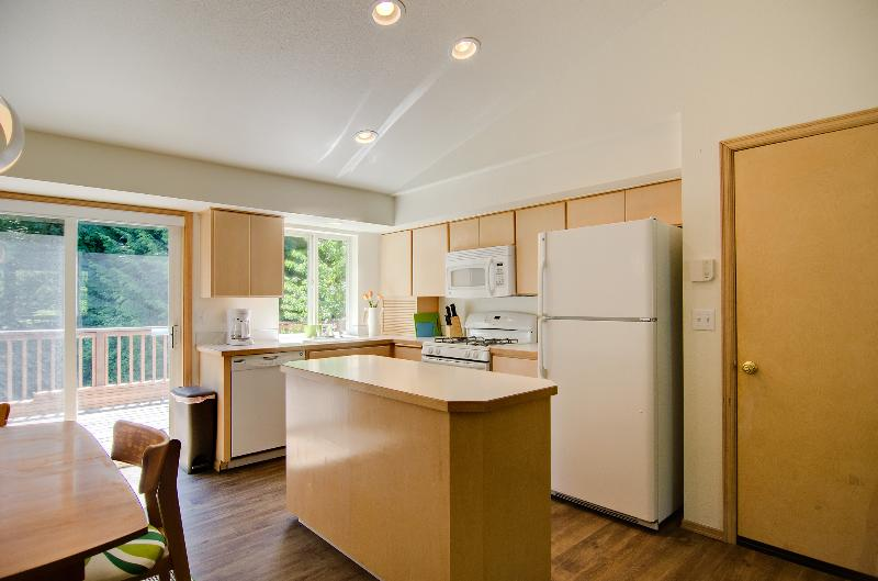 Open and naturally lit kitchen