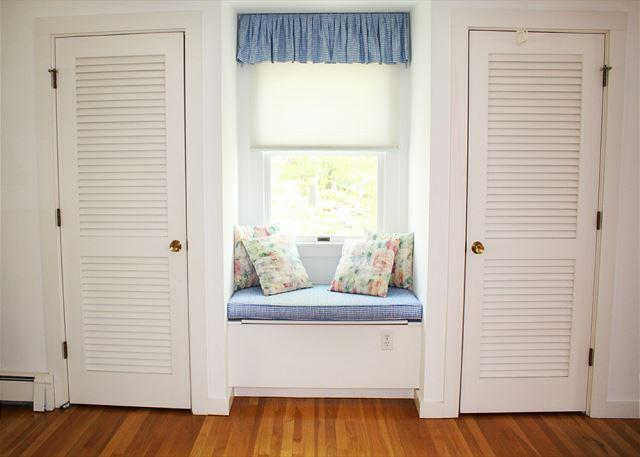 Window seat in the master King bedroom.