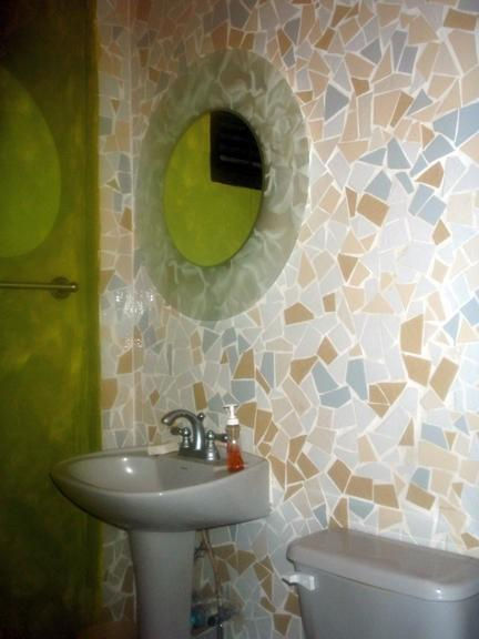Bathroom mosaic wall