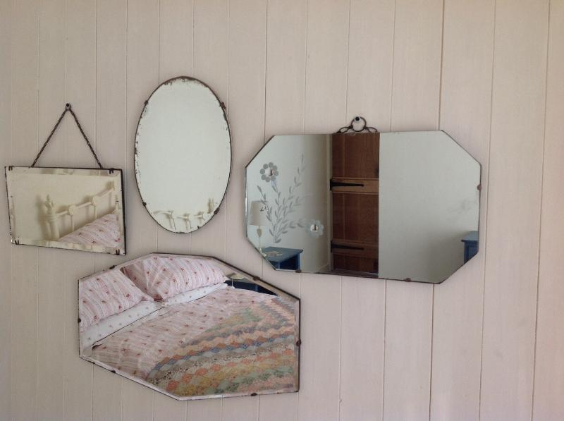 Vintage mirrors in the bedrooms