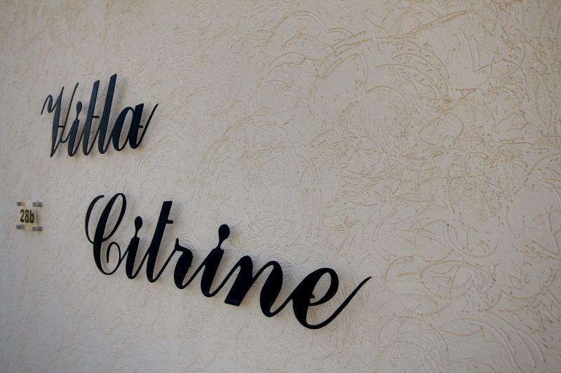 Villa Citrine....the place to unwind!
