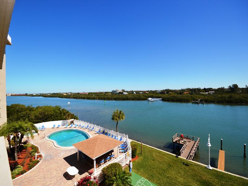 Our Heated Pool and Intracoastal As Seen From Our Balcony