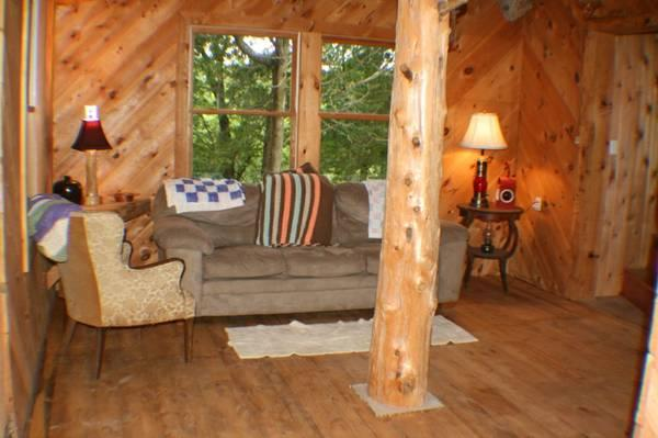 1br - Secluded Cabin on 40 Wooded Acres, holiday rental in Fremont