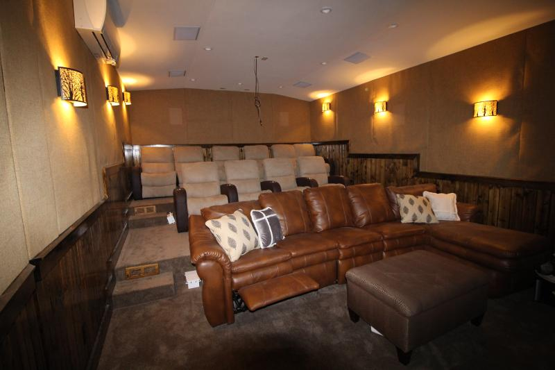 High Tech Home Theater with seating for 15, 110' CineWide Movie screen - watch movies in Wide screen
