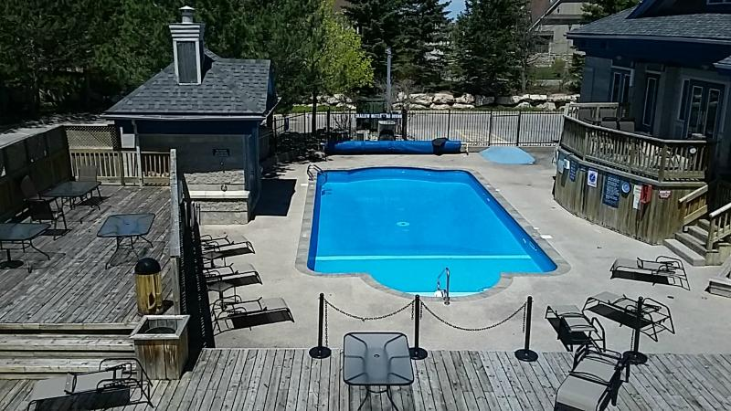 On site heated pool and hot tub