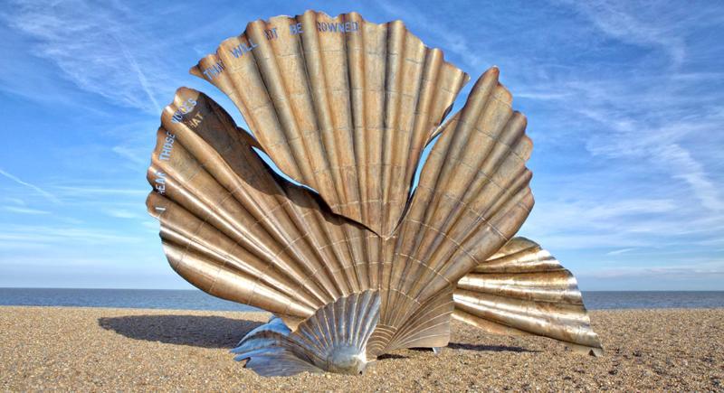 Scallop Shell Sculpture, Aldeburgh beach