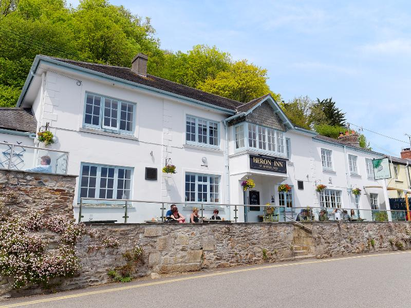 Conveniently, about 20 metres up the road is the Heron Inn, a classic old Cornish pub.