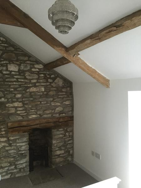 Feature wall in main bedroom