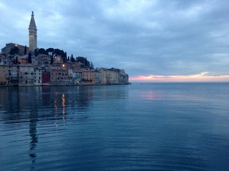 Romantic Rovinj at sunset.