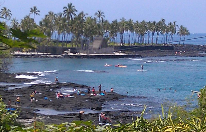 View from lanai. Maybe a 2 minute walk to swim, snorkel, dive, kayak, canoe,  paddle board...