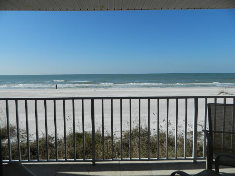 Yes, this is your view from the balcony--the beach is a few feet away.