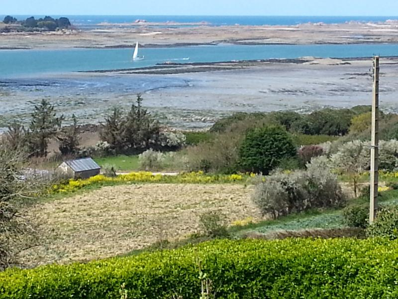 low tide , spring time, view from bedroom upstairs
