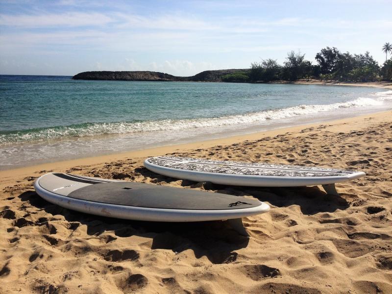 Jobos Beach is a 5 min drive and we offer paddleboards and surfboards!