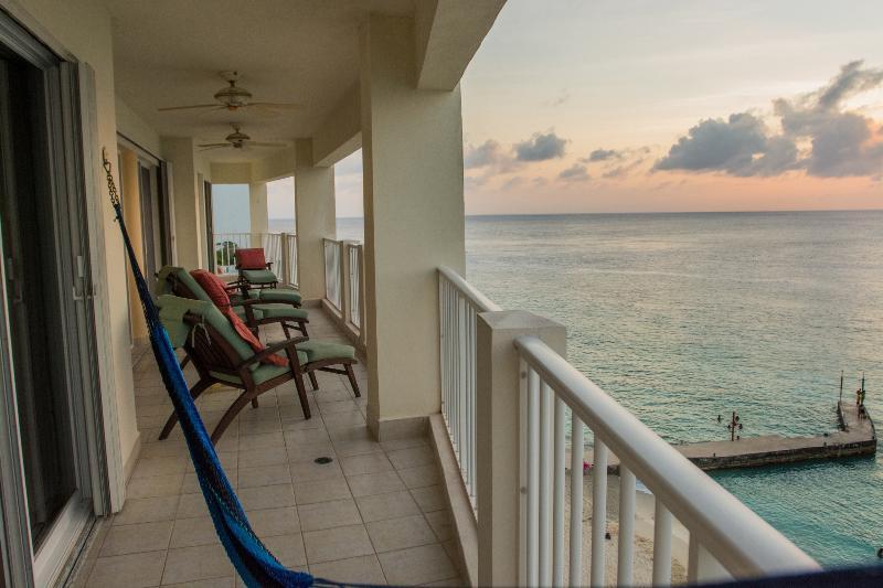 Lounge chairs & hammock with views