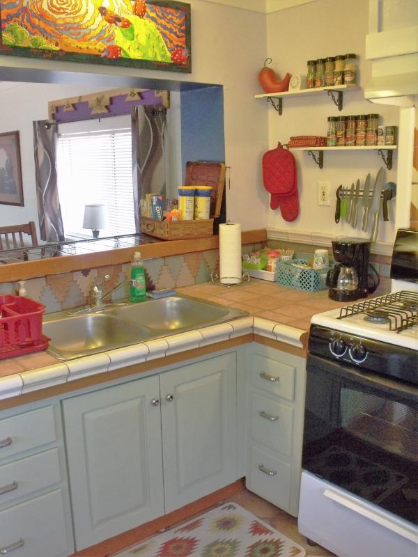 The spacious kitchen has everything you need if wanting to whip up an awesome meal.