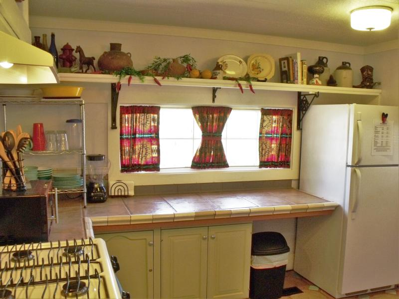 Lots of workable counter space to make salsa or margaritas from. Even a blender is available.