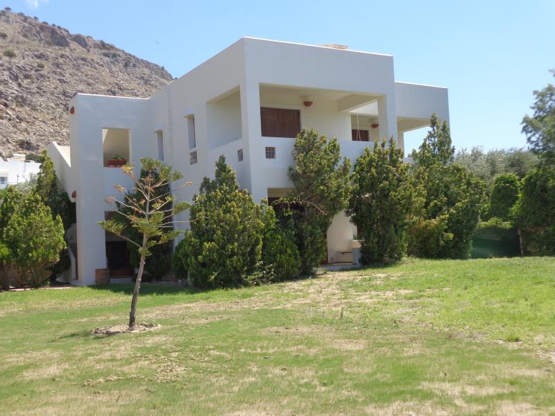 La villa come si vede dalla spiaggia