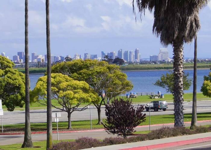 San Diego Skyline from deck