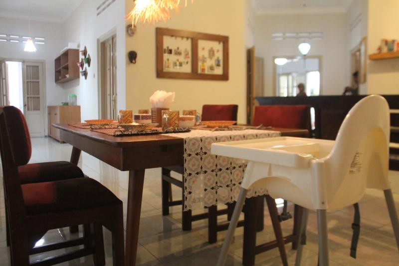 inclusive dining table where your little ones can join at indonesian jengki styled dining table