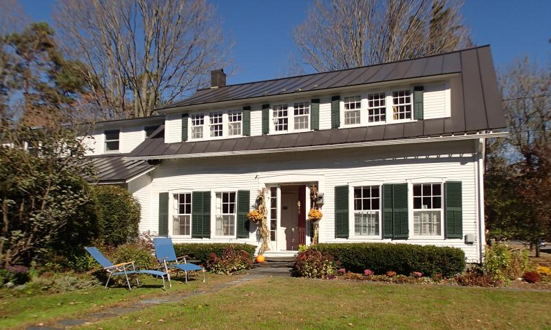 The house is lovely in the fall months. Foliage season is a popular time in Vermont!