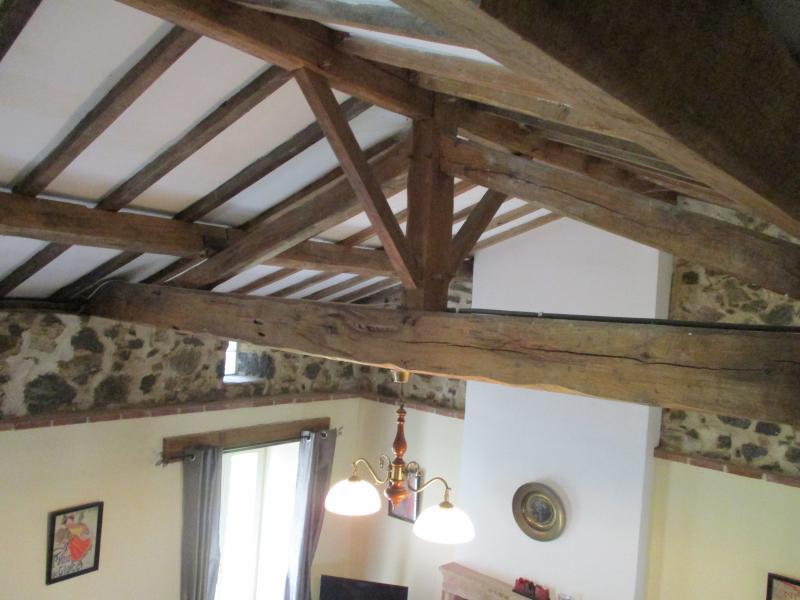 Part of the vaulted ceiling in the lounge