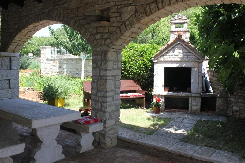 Front of the Villa - barbecue