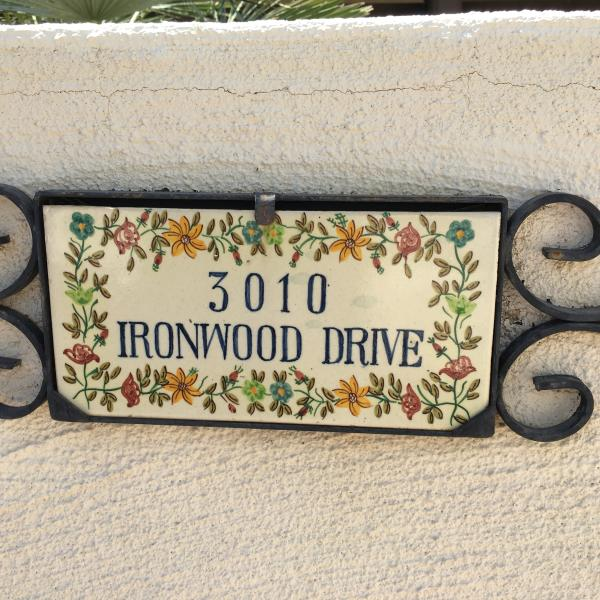 It's really  3010 Ironwood Circle but this is the 'nameplate' on the wall