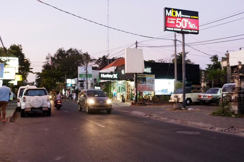 the main street in sanur